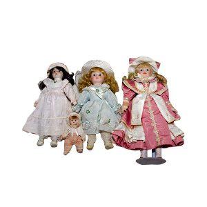 4 Bonecas de Porcelana