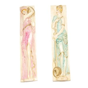 Conjunto de 2 Estatuetas em Marfinite