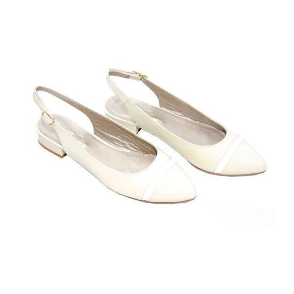 Sapatos em Verniz Bege
